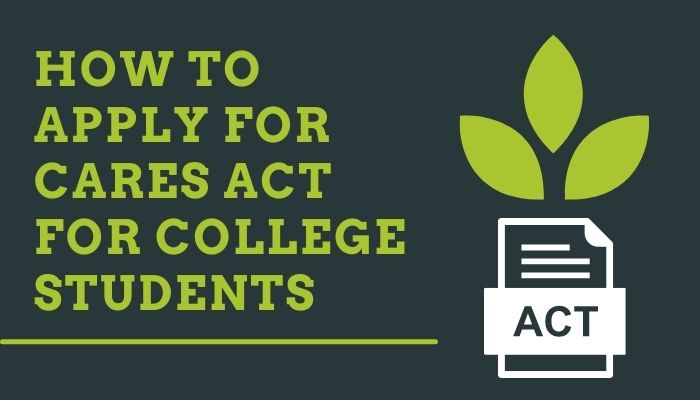 How to apply for CARES act for college students