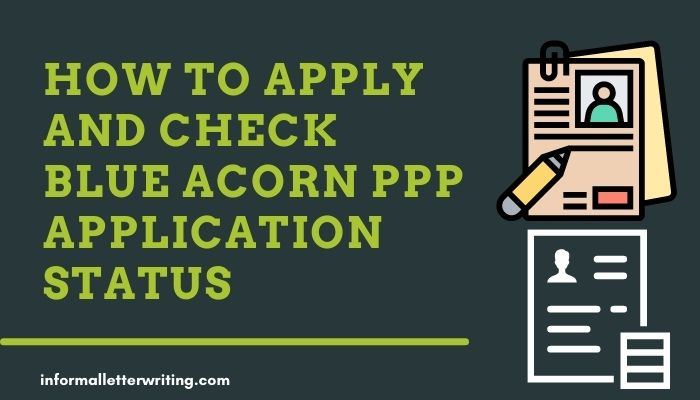 How to check blue Acorn PPP application status