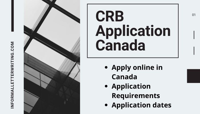 apply for CRB application form Canada
